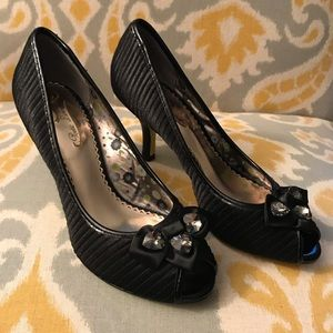 Poetic License Girls Best Friend Open Toe Pumps